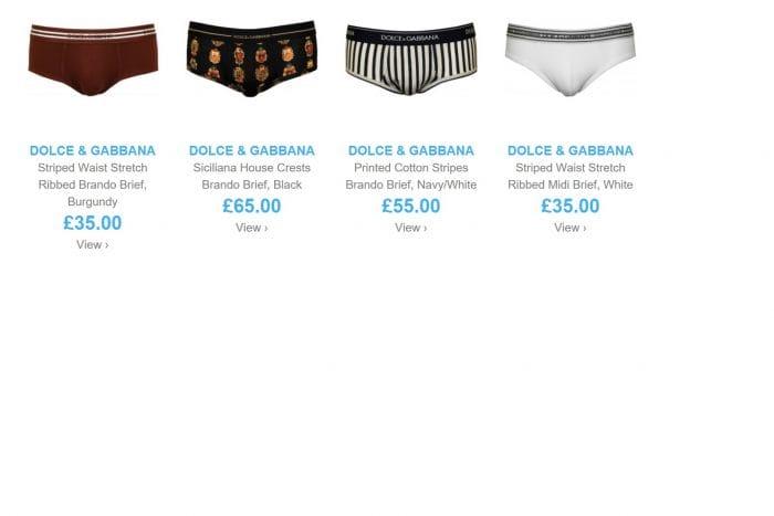 Dolce Gabbana men's underwear