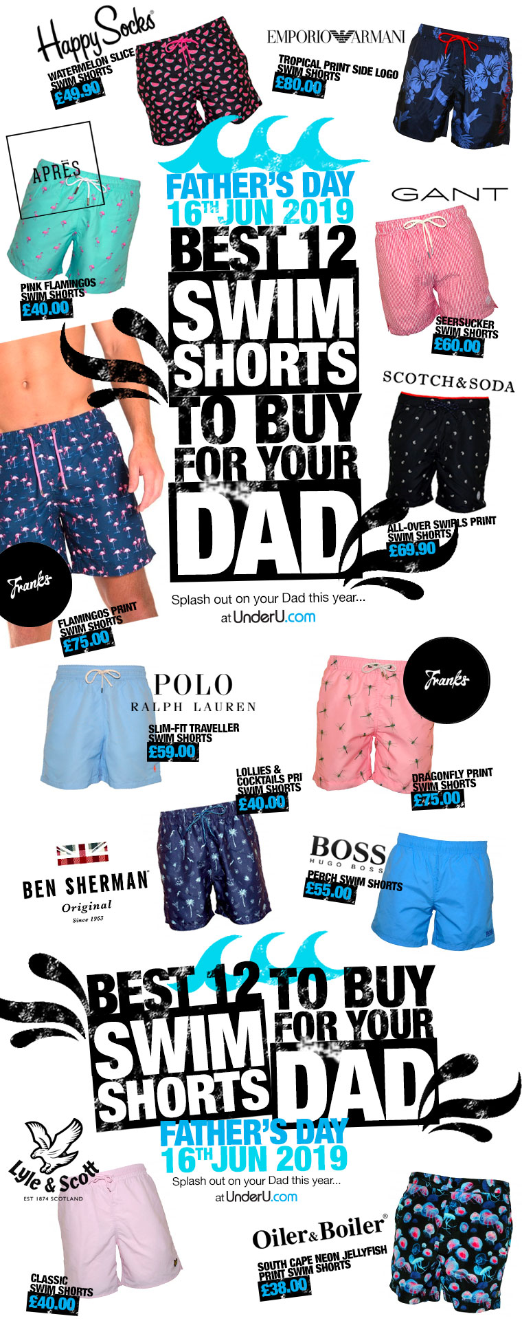 Father's Day 2019 swim shorts to buy for your Dad