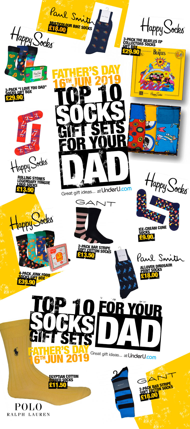 Father's Day 2019 - Top 10 sock gift sets for your Dad