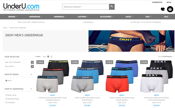 New-in DNKY Boxer Trunks at UnderU