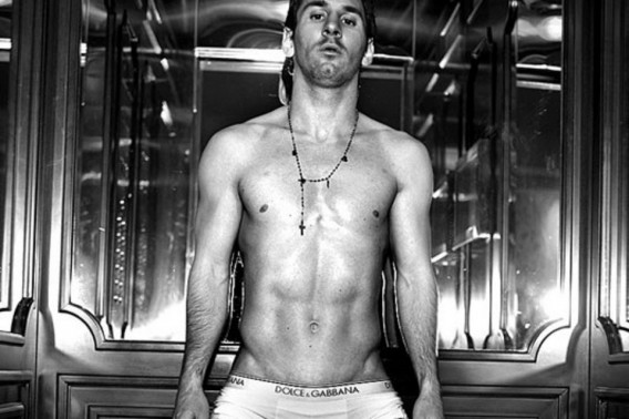 Lionel Messi wearing Dolce & Gabbana underwear without any Dolce & Gabbana t-shirts