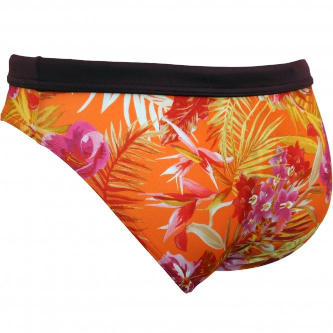 HOM Swimwear - Equatorial Floral Print Swim Mini Brief, Multicolour