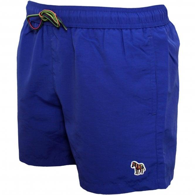 Paul Smith Zebra Logo Athletic-cut Swim Shorts, Electric Blue