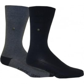 2-Pack 168sf Regular-Cut Denim Socks, Blue/Navy Denim