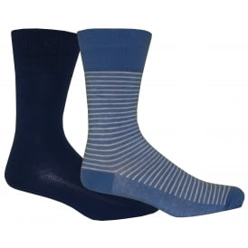 2-Pack 168sf Vintage Stripe Socks, Blue Depths