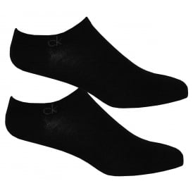 2-Pack Casual Trainer Socks, Black