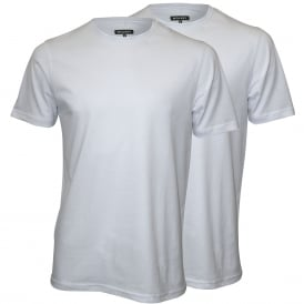 2-Pack Crew-Neck Jersey T-Shirts, White