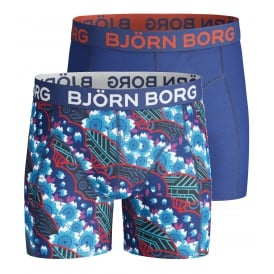 2-Pack Cyber Garden Boys Boxer Trunks, Blue
