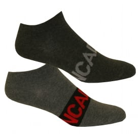 2-Pack Intense Power Trainer Socks, Charcoal/Graphite Heather