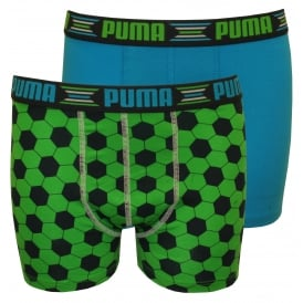 2-Pack Play World Cup Boys Boxer Briefs, Green/Blue