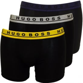 3-Pack Boxer Briefs, Black with yellow/indigo/grey