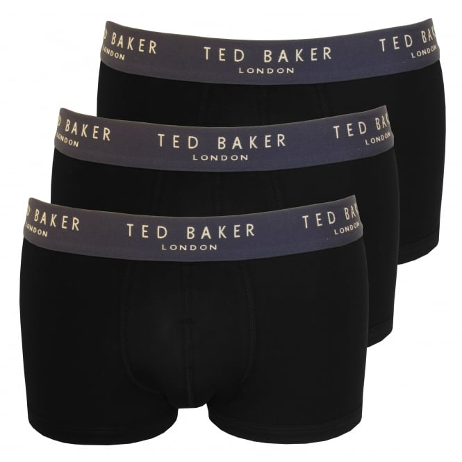 Ted Baker 3-Pack Boxer Trunks, Black