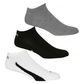 3-Pack Lifestyle Trainer Socks, Black/White/Grey