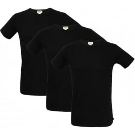 3-Pack The Essential Crew-Neck T-Shirts, Black