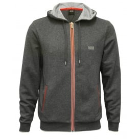 Authentic Heavyweight Brushed Zip-Thru Hooded Jacket, Charcoal