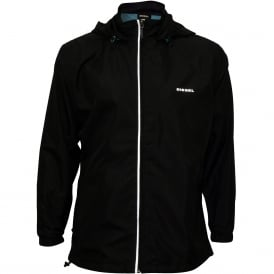 Beach Windbreaker Full-Zip Jacket, Black