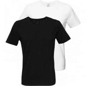 2-Pack Crew-Neck T-Shirts, Black/White