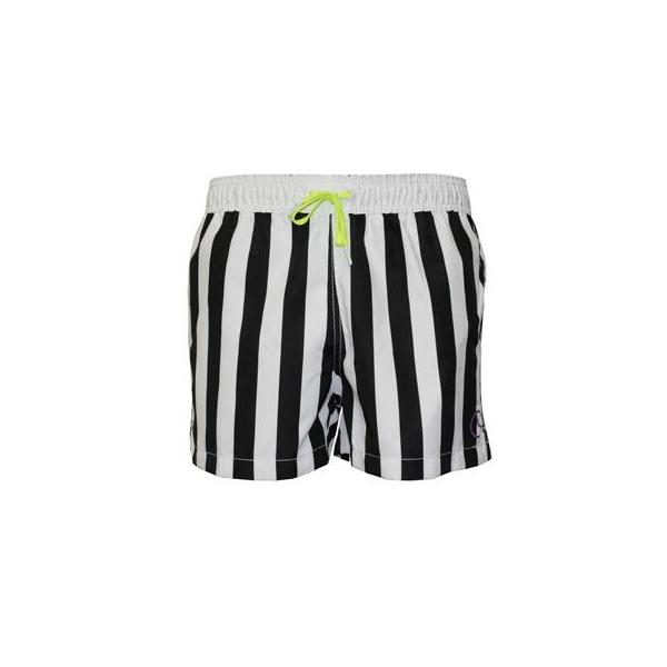 d651dc1d66 Bjorn Borg Block Stripe Swim Shorts, Black/White