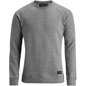 Brushed Cotton Fleece Sweatshirt, Light Grey Melange