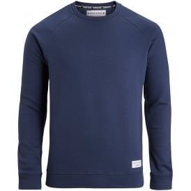 Brushed Cotton Fleece Sweatshirt, Navy