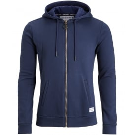 Brushed Cotton Fleece Tracksuit Hoodie, Navy
