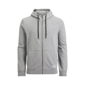 Brushed Cotton Tracksuit Hoodie, Light Grey Melange