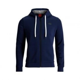 Brushed Cotton Tracksuit Hoodie, Navy Blue