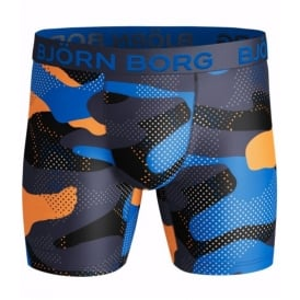 Camo Print Performance Boxer Brief, Navy/Blue/Black