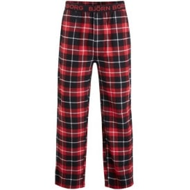 Check Pyjama Bottoms Gift Set, Red/Black