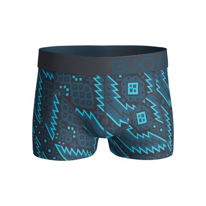 Bjorn Borg Electrifying Nordic Knit Boxer Trunk, Blue/Navy