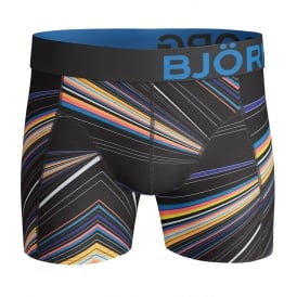 Fancy Spectrum Lights Boxer Trunk, Black