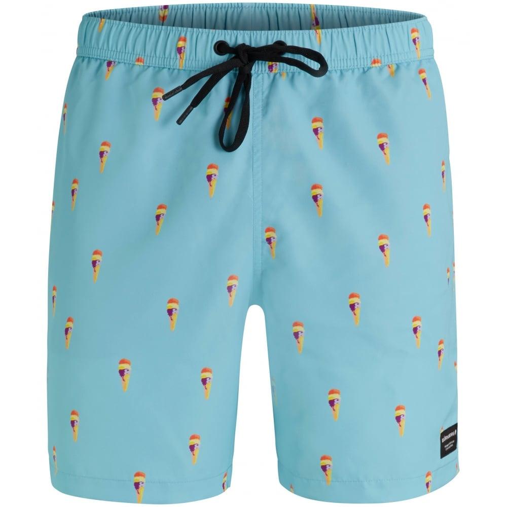 30260807d4c78 Bjorn Borg Ice Cream Print Swim Shorts, Soft Blue | UnderU swim ...