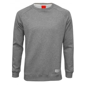 Jersey Cotton Sweatshirt, Light Grey Melange