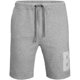 Leon Sweat Shorts, Light Grey Melange