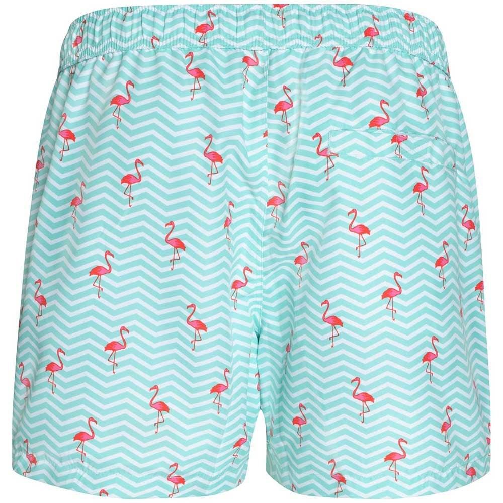 7da3b99d08 Bjorn Borg Mini Flamingos Print Swim Shorts, Aruba Blue | UnderU