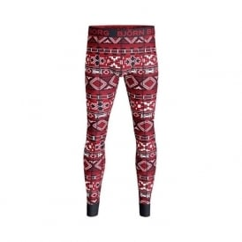 Nordic Knit Long Johns, Red/Black
