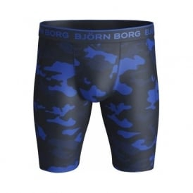 Performance Camo Cyclist Boxer Brief, Dazzling Blue