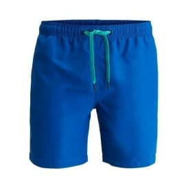 Seasonal Solid Loose Swim Shorts, Nautical Blue