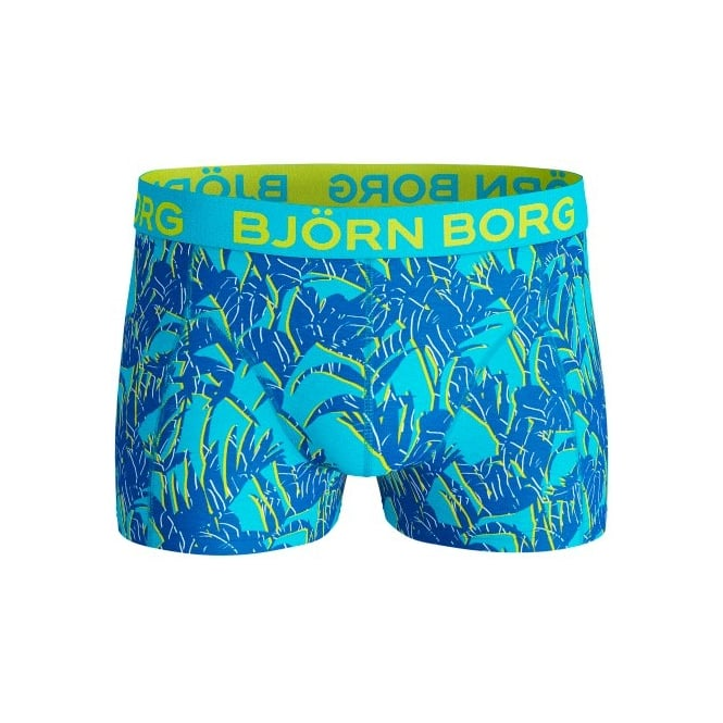 Bjorn Borg Tropical Foliage Boxer Trunk, Blue