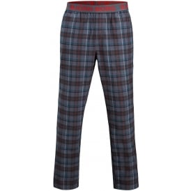 Winter Check Pyjama Bottoms Gift Set, Blue/Black
