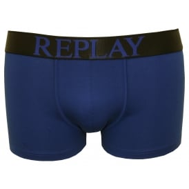 Bold Placed Logo Boxer Trunk, Electric Blue