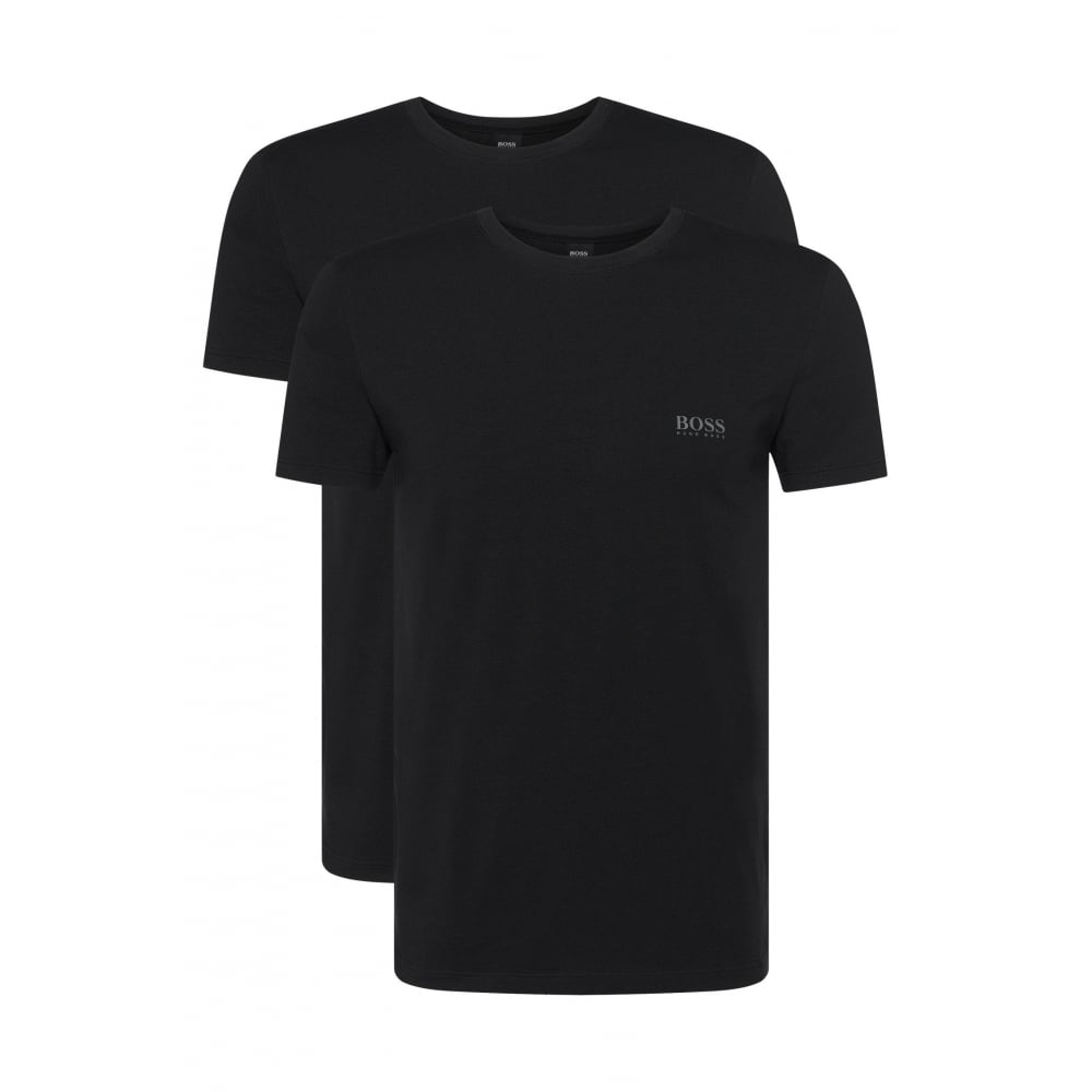 high fashion coupon code official supplier 2-Pack Regular-Fit Crew-Neck T-Shirts in Stretch Cotton, Black