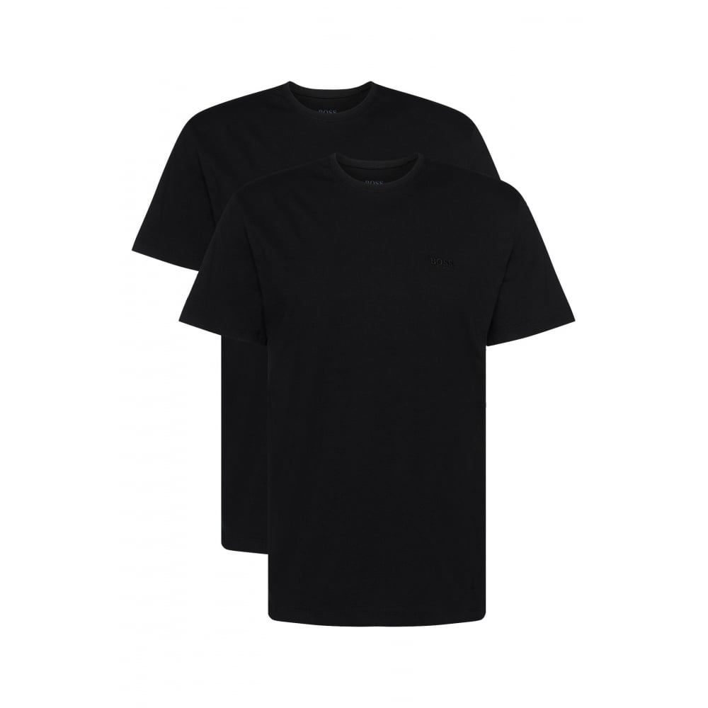 dfeafabb5 Hugo Boss 2-Pack Relaxed-Fit Crew-Neck T-Shirts, Black | UnderU