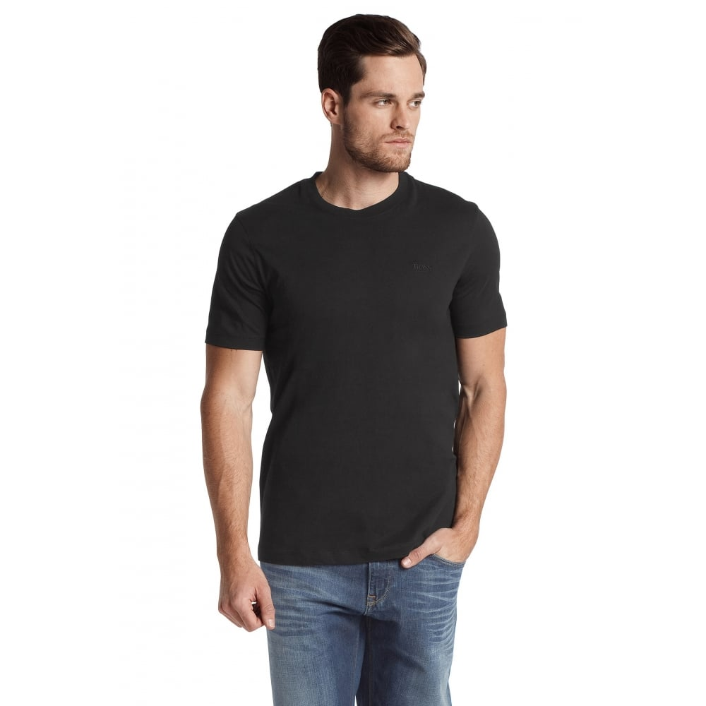 great look classic style factory outlet 2-Pack Relaxed-Fit Crew-Neck T-Shirts, Black