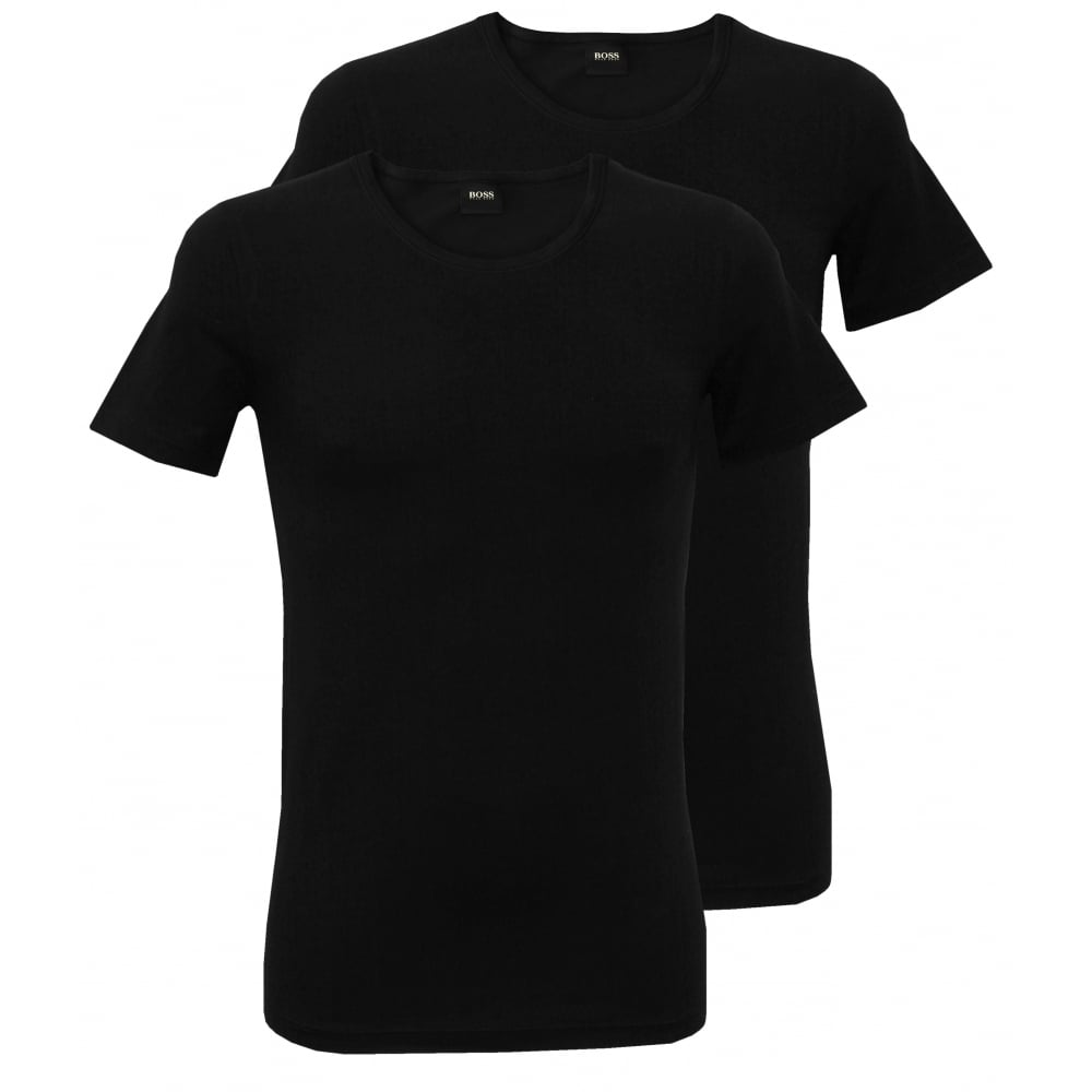 4977a3cb Hugo Boss 2-Pack Slim-Fit T-Shirts, Black | UnderU