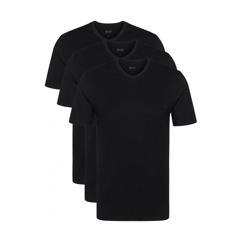 c2ba4394696 3-Pack V-Neck T-Shirts | Hugo Boss Men's T-shirts | UnderU