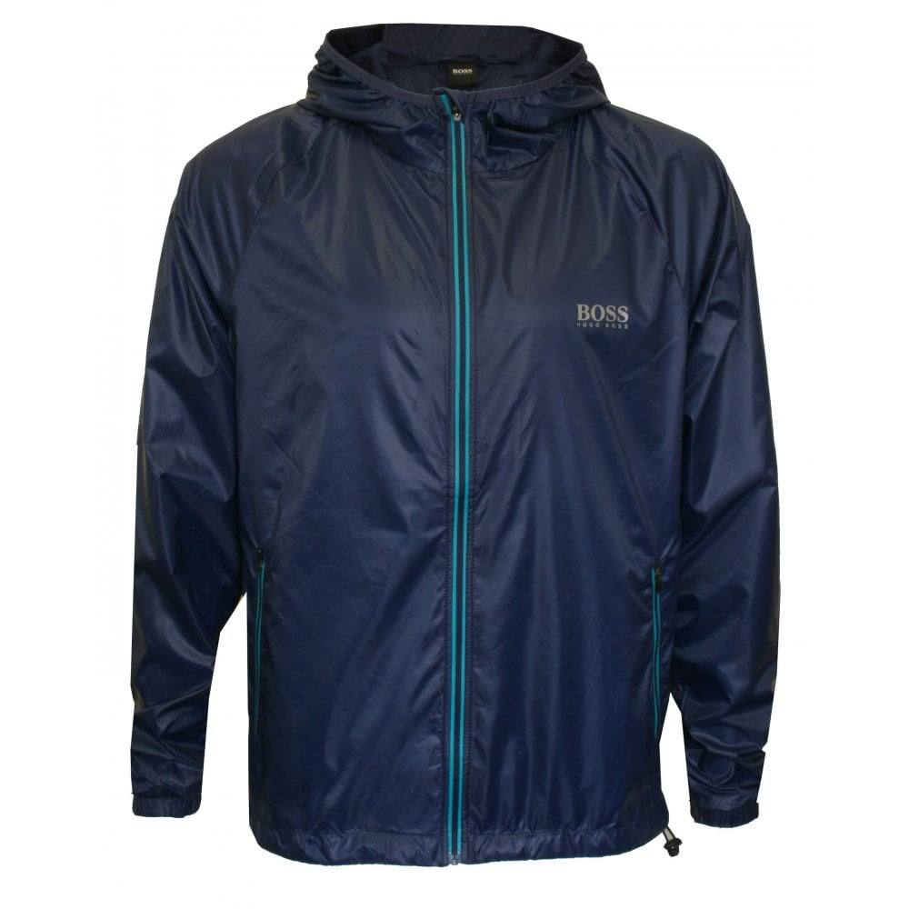 fbdd2ca4f7242 Hugo Boss Beach Windbreaker Full-Zip Jacket, Navy | UnderU