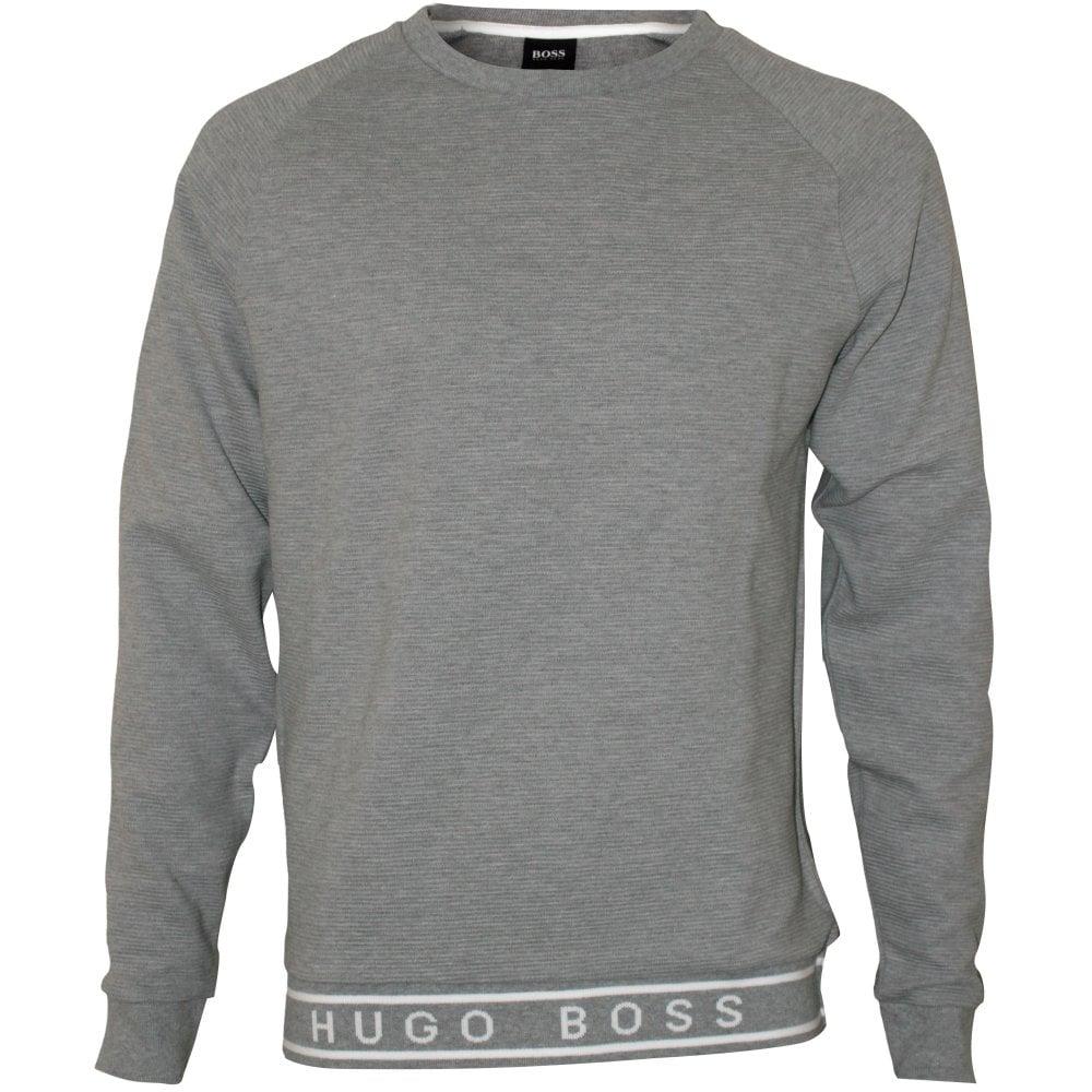 d59ad1607 Hugo Boss Contemporary Ribbed Sweatshirt, Heather Grey | UnderU