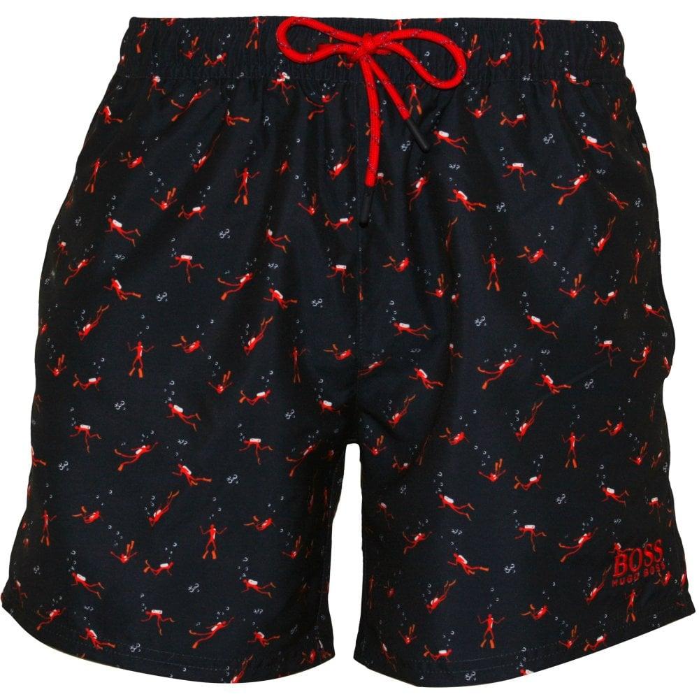 89e92fe269b0b BOSS Deep Sea Divers Print Swim Shorts   Boss swim shorts   UnderU