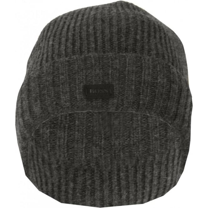 Hugo Boss Knitted Wool Beanie Hat ea9b10b0e21